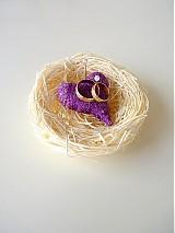 Svadba - hniezdočko na obrúčky, jedno srdiečko ...... - 2298330