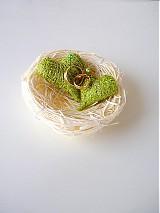 Svadba - hniezdočko na obrúčky, dve srdiečka,rôzne farby... - 2300016