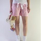 Pyžamy a župany - Pyžamové trenýrky růžová kostička - 2301869