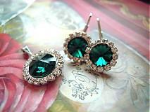 Náušnice - Smaragdové náušnice AKCIA - 2310622