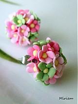 Náušnice - Ružová záhrada mini - 2312612