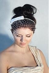 Čelenky - svadobný závoj s mašľou - 2313033
