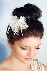 Sponky / Gumičky - Svadobný kvet do vlasov, kvetový hrebienok do vlasov  - 2316266