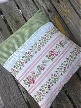 Úžitkový textil - romantický ružičkový s krajkou - 2316652
