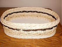 Košíky - Ovál s kukuričným špagátom a banánovou páskou. - 2321708