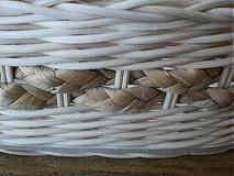 Košíky - Oválny košík s copom z vodného hyacintu - 2321858