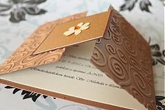 Papiernictvo - Svadobné oznámenie - hnedá so zlatou - 2322006