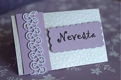 Papiernictvo - Svadobné menovky - orgovánová na perleti - 2322046