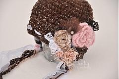 Detské čiapky - cokoladova - 2322217
