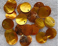 - Placička perleť 15mm-žltá-1ks - 2322712