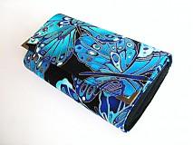 Peňaženky - Noční motýl - velká, zipová i na karty - 2326164