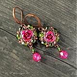 Náušnice - Náušničky Královna květin II... - 2326527