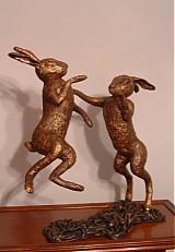 Dekorácie - Tancujúce zajace- súsošie  - 2332188