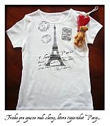 tricko...milujem Pariz...