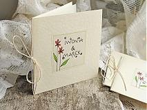Papiernictvo - LITTLE FLOWERS svadobné oznámenia - 2335896