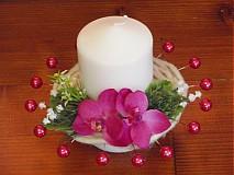 Svietidlá a sviečky - Cyklamenovo biele sviečky - 2336425
