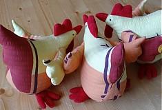 Dekorácie - Veľkonočné sliepky - jarabé - 2338638