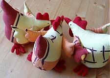 Dekorácie - Veľkonočné sliepky - jarabé - 2338639