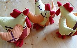 Dekorácie - Veľkonočné sliepky - jarabé - 2338641
