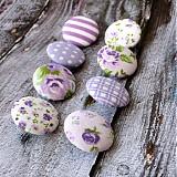 Materiál ručne robený - Levanduľové buttony 26 mm - 2339583
