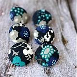 - Frozen flowers 19 mm buttonky / poťahované gombíky - 2339602