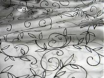 Šály - Černobílá kresba  /šála 35x130cm/ - 2341103