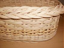 Košíky - Prírodný - oválny s kukuričnou šnúrou - 2341505