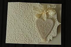 Papiernictvo - Svadobné oznámenie - ornamentové so srdiečkom - 2344150
