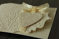 Papiernictvo - Svadobné oznámenie - ornamentové so srdiečkom - 2344151