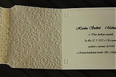 Papiernictvo - Svadobné oznámenie - ornamentové so srdiečkom - 2344152