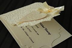 Papiernictvo - Svadobné oznámenie - ornamentové so srdiečkom - 2344153