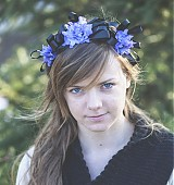 Ozdoby do vlasov - Čelenka s fialovými kvietkami - 2356718