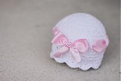 Detské čiapky - čiapočka s mašlou - 2359529