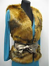 Iné oblečenie - Kožušinová vesta - skladom - 2361883