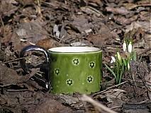 Nádoby - zelený kvetinkový - 2362506