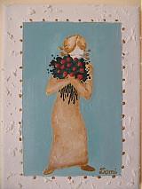 Obrazy - Dievča s kyticou - 2366012