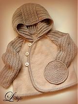 Detské oblečenie - kabátik pre chlapca v béžovom - 2368251