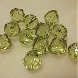 Korálky - Korálky - číre brúsené zelené 16mm - 2369002