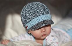 Detské čiapky - bekovka s autíčkovými gombíkami - 2375004