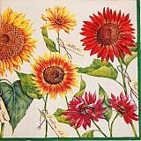 Papier - Sunflowers cream - Slnečnice - 2377064