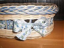 Košíky - Nebíčkovo- modrý- oválny - 2377485