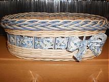 Košíky - Nebíčkovo- modrý- oválny - 2377486