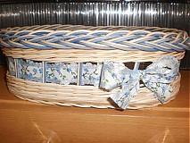Košíky - Nebíčkovo- modrý- oválny - 2377487