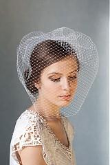 Závoje - biely svadobný závoj Birdcage - 2378128
