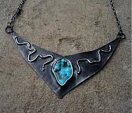 Náhrdelníky - Tyrkysový náhrdelník - 2378301