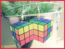Náušnice - Rubikove kocky - 2380858