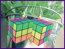 Náušnice - Moderné Rubikove kocky - 2380887