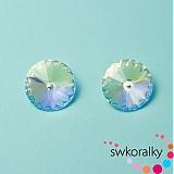 Korálky - RIVOLI 12 mm SWAROVSKI ® ELEMENTS 1122-crystal AB - 2381465