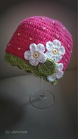 Detské čiapky - Háčkovaná čiapka ... jahodová ...  - 2386066