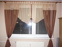 Úžitkový textil - Záclona hnedá - 2388478